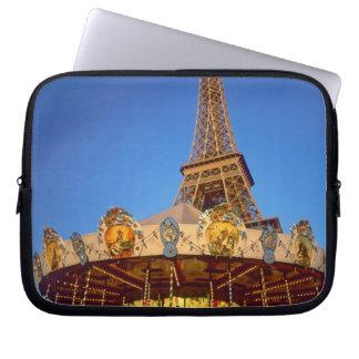Carrousel, Eiffel Tower, Paris, France Laptop Sleeve