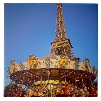 Carrousel, Eiffel Tower, Paris, France Tile