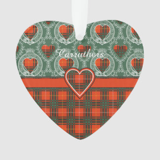 Carruthers clan Plaid Scottish kilt tartan Ornament