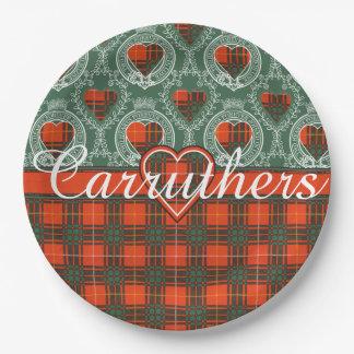 Carruthers clan Plaid Scottish kilt tartan Paper Plate