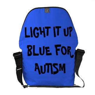 CARRY BAG(LIGHT IT UP BLUE FOR AUTISM) MESSENGER BAG