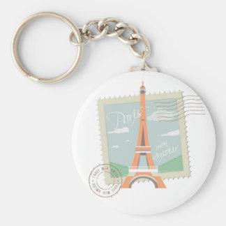 Carry Clé Basic Paris Basic Round Button Key Ring