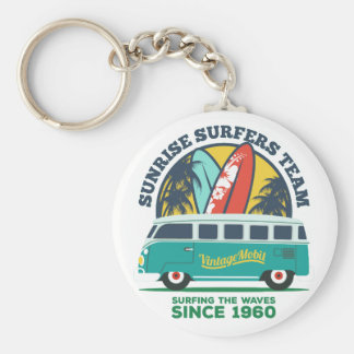 Carry Clé Basic Surfing Basic Round Button Key Ring