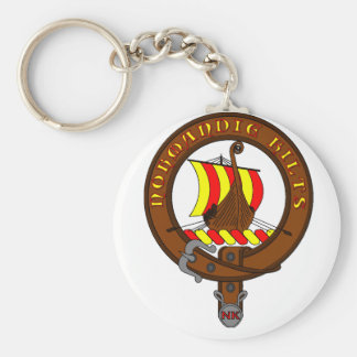 Carry Clefs Basic Round Button Key Ring