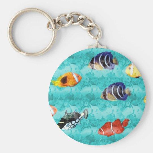Carry key fish basic round button key ring