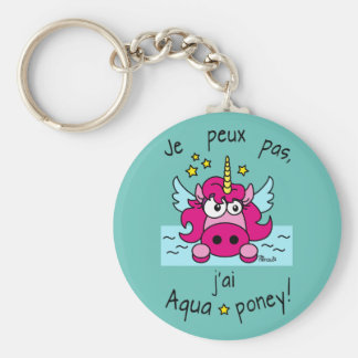 Carry key Licorne, Aquaponey Basic Round Button Key Ring