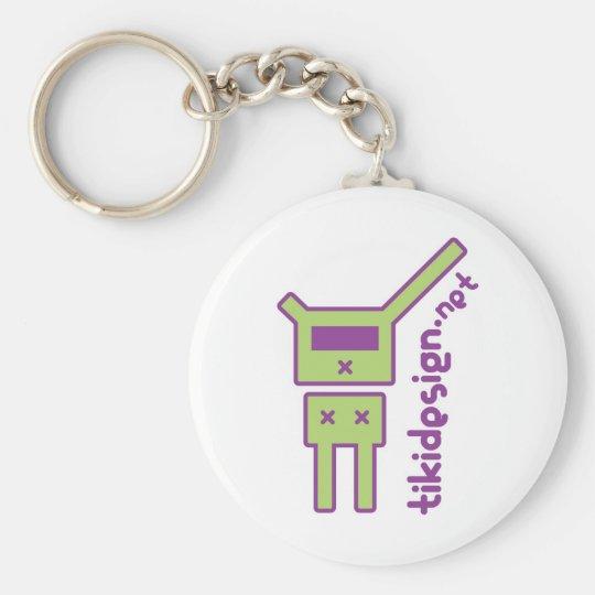 carry-key logo-tikidesign-Net Basic Round Button Key Ring
