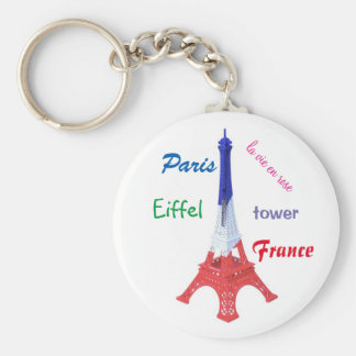 "carry-key ""Paris, France "" Basic Round Button Key Ring"