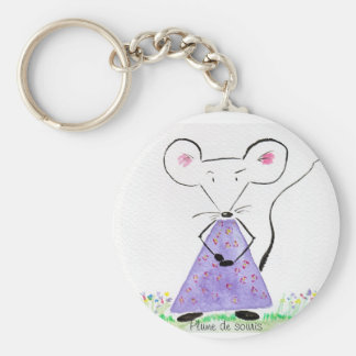 Carry key Plume of mouse in spring Key Ring