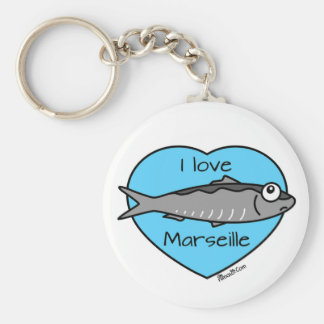 Carry-key Sardine, I coils Marseilles Basic Round Button Key Ring