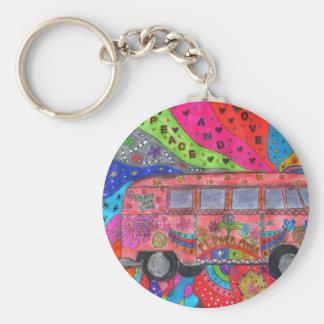 carry key van-hippie basic round button key ring