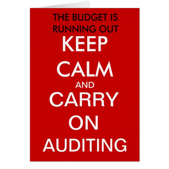 Carry on Auditing - Funny Auditor Birthday Card