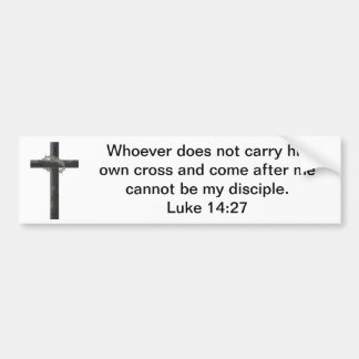 Carry Our Cross (with image) Bumper Sticker
