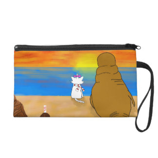 Carry these characters everywhere you go! wristlet purse