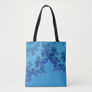 Carrying bag with almond bread in blue