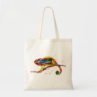 Carrying bag with multicolored handpainted