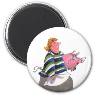 Carrying Pig Magnet