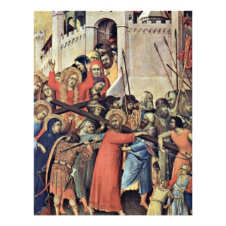 Carrying The Cross By Martini Simone Personalized Flyer