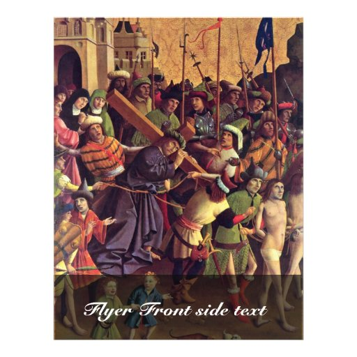 Carrying The Cross By Meister Der Darmstädter Pass 21.5 Cm X 28 Cm Flyer