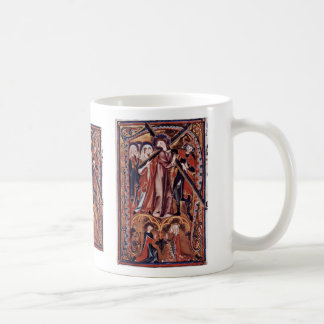 Carrying The Cross Of Christ Initial By Meister De Coffee Mugs