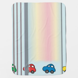 Cars And Stripes Fun Design Baby Blanket