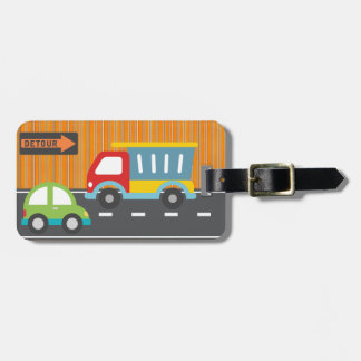 cars and trucks luggage tag(personalize) luggage tag