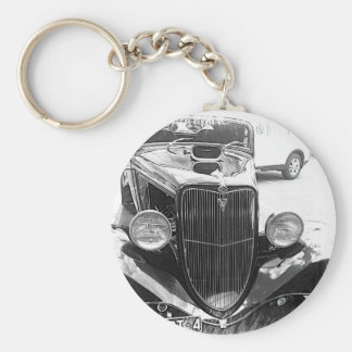 cars basic round button key ring