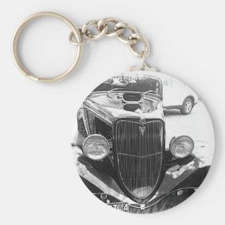 cars basic round button key ring
