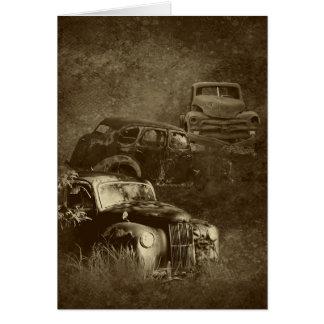 cars in the jungle vertical card