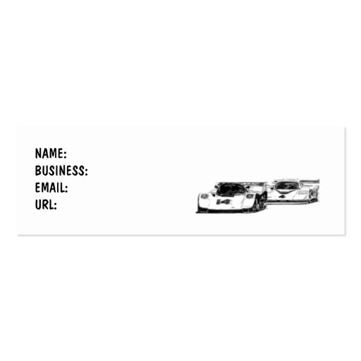 Cars - Race - Business Card Pack Of Skinny Business Cards