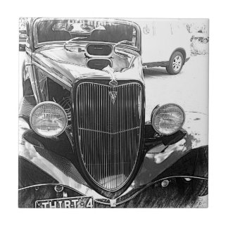 cars small square tile