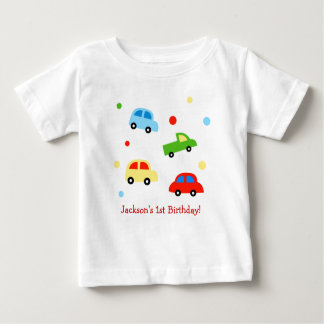 Cars Truck Personalized 1st Birthday Tshirt
