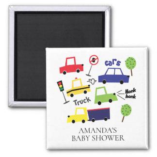 Cars & Trucks Baby Shower Favor Magnet