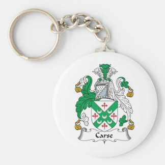 Carse Family Crest Basic Round Button Key Ring