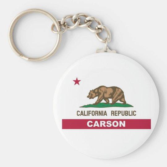 Carson California Basic Round Button Key Ring
