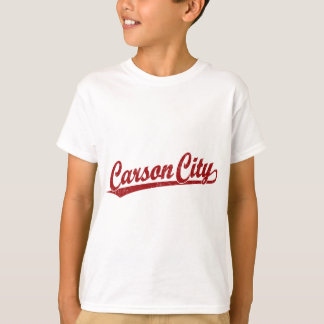 Carson City script logo in red T-Shirt