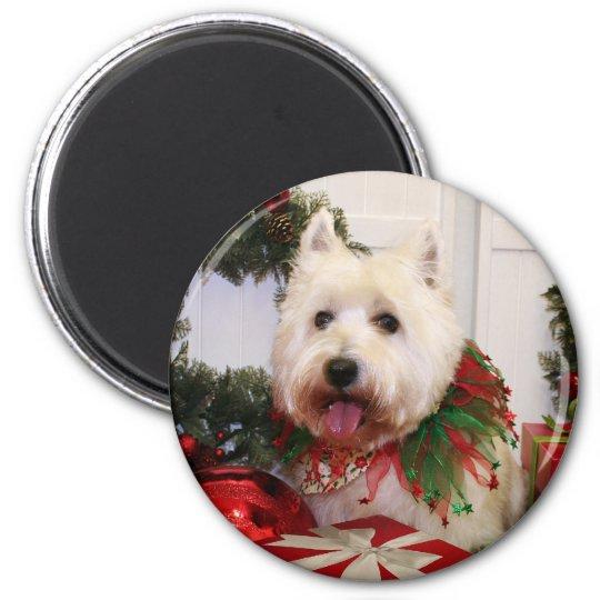 Carson - West Highland Terrier - Rovine 6 Cm Round Magnet