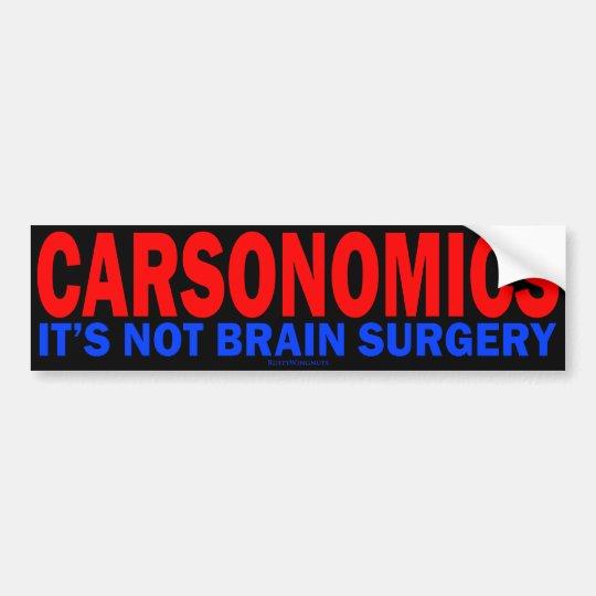Carsonomics Bumper Sticker