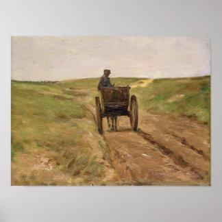 Cart in Katwijk, 1889 Poster
