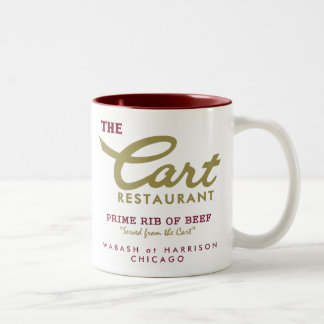 Cart Restaurant, Wabash and Harrison, Chicago, IL Two-Tone Coffee Mug