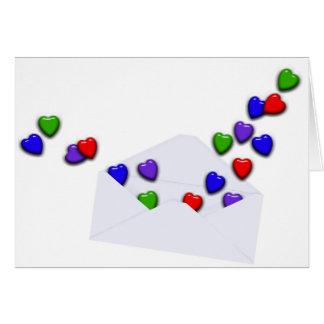 Carta de amor cartoes