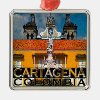 Cartagena Silver-Colored Square Decoration