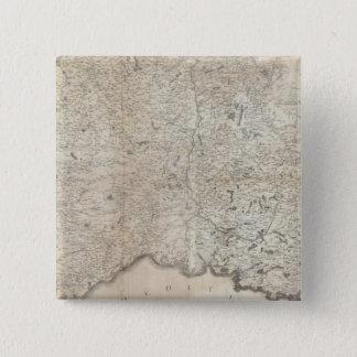 Carte de la France SE 15 Cm Square Badge