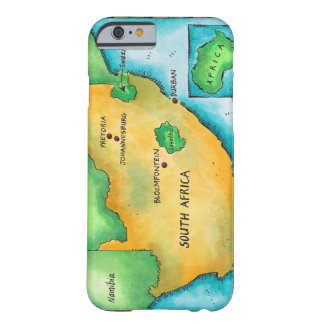 Carte de l'Afrique du Sud Barely There iPhone 6 Case