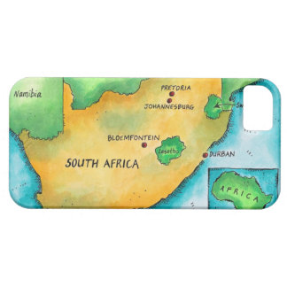 Carte de l'Afrique du Sud iPhone 5 Cover