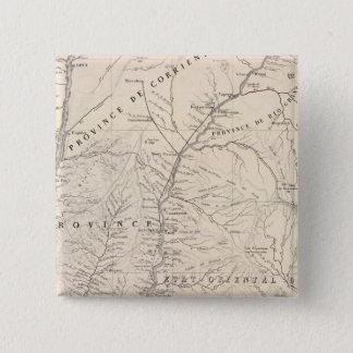 Carte, Entre Rios, Santa Fe, Soundtrack 15 Cm Square Badge