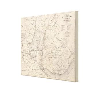 Carte, Entre Rios, Santa Fe, Soundtrack Canvas Print