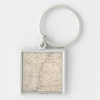 Carte, Entre Rios, Santa Fe, Soundtrack Silver-Colored Square Key Ring