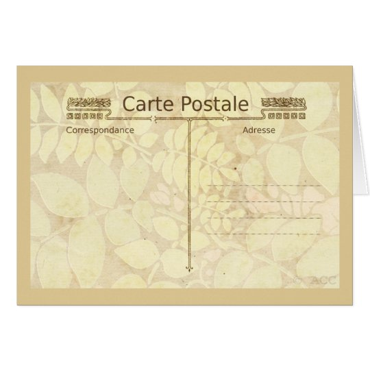 Carte Postale Postcard Mail Art
