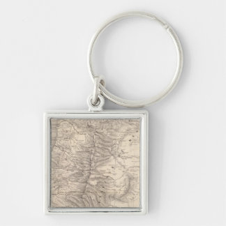 Carte, Province de Mendoza, the Araucan�a Silver-Colored Square Key Ring